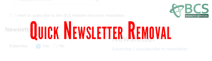 Quick Newsletter Removal